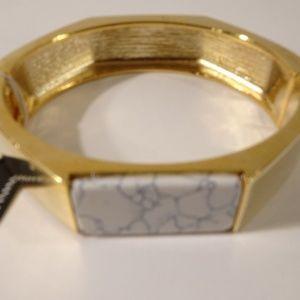 Banana Republic Gold Bar Marble Cuff Bracelet NWT